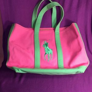 Ralph Lauren Large Pony Polo Tote